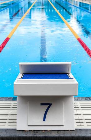 Pool Start blok met de Lucky Seven Number