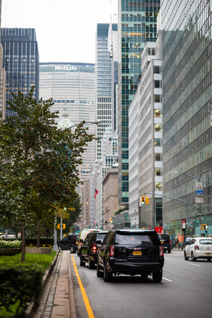 NEW YORK, USA - October 13, 2016. View of the Metlife Building on Park Avenue, New York City.