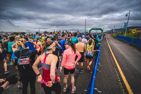 CARLETON, CANADA - 4 juin 2017. Au cours du 5e Marathon de Carleton au Québec, au Canada. Banque d'images - 82386538