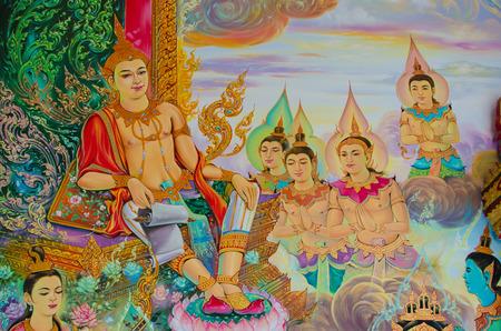 Buddhist painting thailand photo
