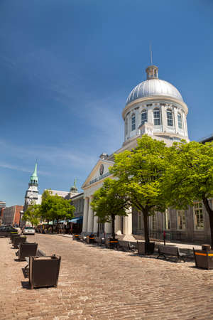 The Marche Bonsecours, is a historic market in Old Montreal Quebec, Canada