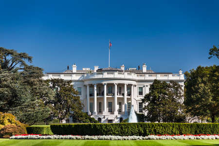 The White House 1600 Pennsylvania Ave home of the President of the United States of America in Washington DC USA