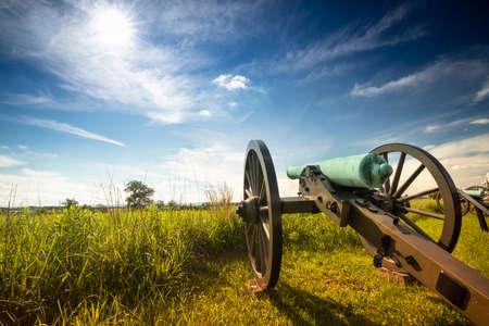 Civil War battlefield cannon in Gettysburg Pennsylvania USA