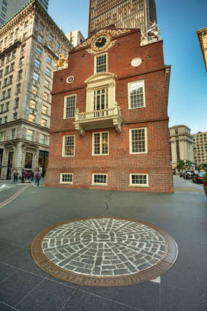 Old State House on the historic Freedom Trail in downtown Boston Massachusetts USA