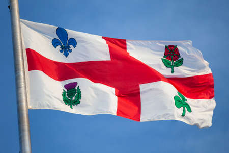 Flag of the city of Montreal in Quebec Canada
