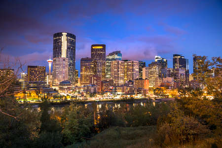 Calgary cityscape in Alberta Canada