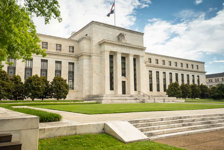 Federal Reserve financial policy building in Washington DC USA Stock Photo