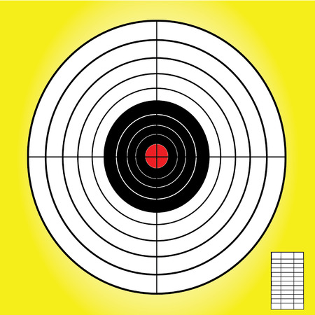 blank target sport for shooting competition on yellow background vector