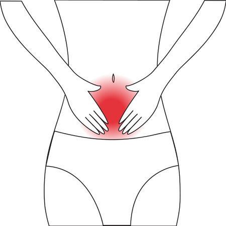 abdominal pain Vector