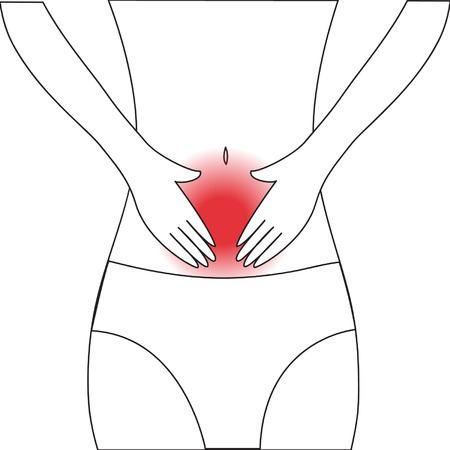 abdominal pain: abdominal pain Illustration