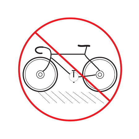 littering: Bicycle Signs