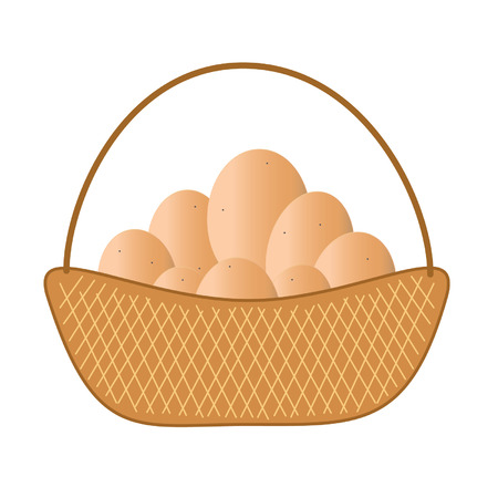 Brown eggs Vector
