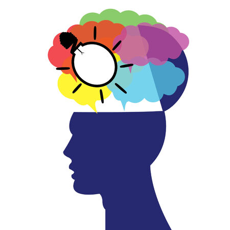 human and brain concept Vector