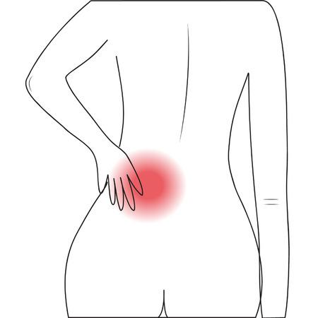 lumbar: Human lumbar pain Illustration