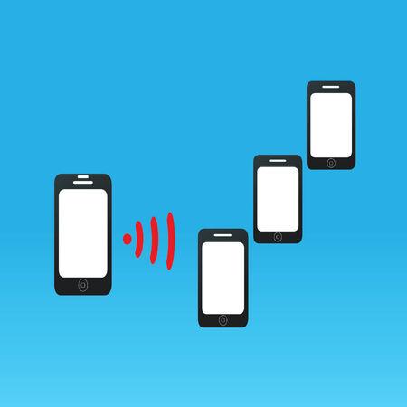point chaud: Smartphone partage Wi-Fi � un autre appareil Illustration