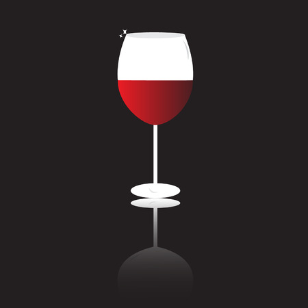 Vector wine glass isolated Vector