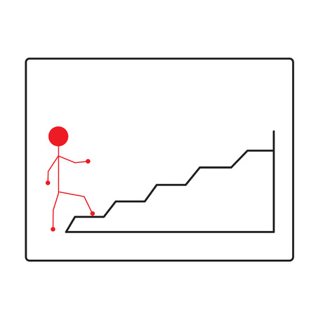 Symbol of people walking up the stairs Vector