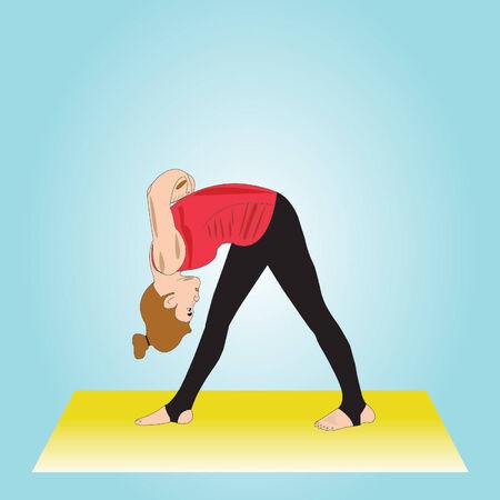 practising yoga Vector