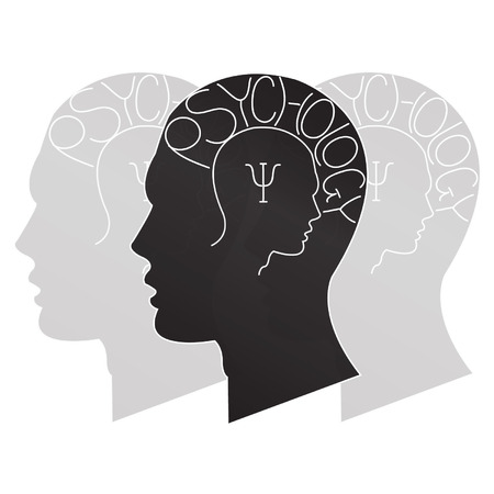 psychiatry symbol on people background Vector