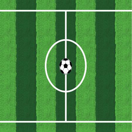 offside: Soccer ball in center field