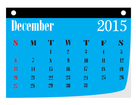 december kalender: Kalender december 2015.
