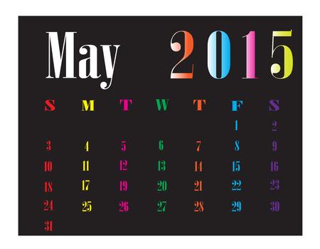 Calendar May 2015 Illustration