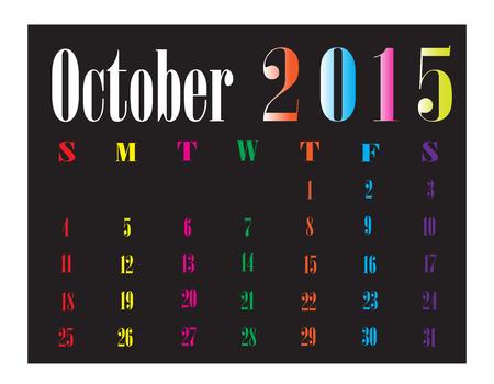 kalender oktober: Calendar oktober 2015