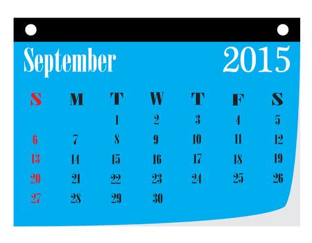 calendario septiembre: