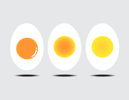boiled: Vector illustration of boiled egg gray background