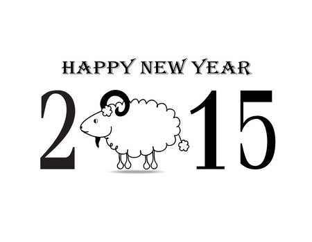 The happy new year for 2015 Vector