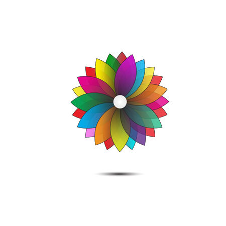 Abstract flower geometrical background. vector Vector