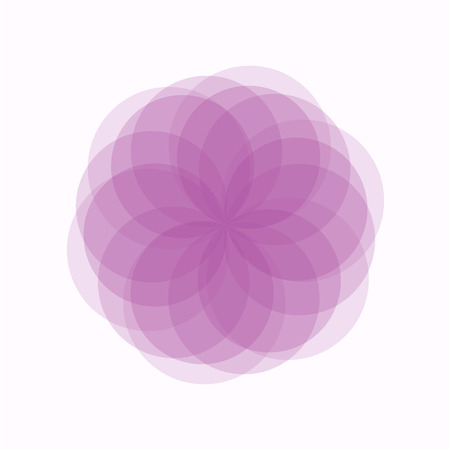 Pink flower background template. vector Vector