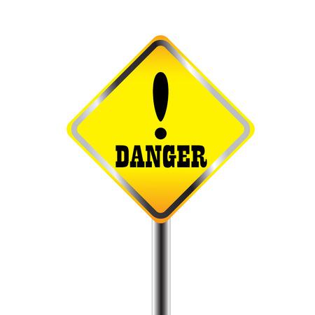 panneaux danger: Les signes de danger exclamation Illustration