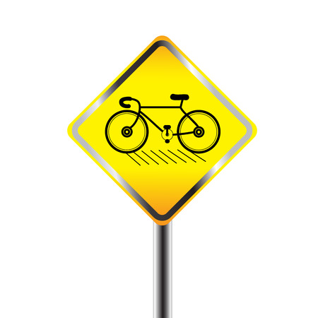 Bicycle sign on white background Vector