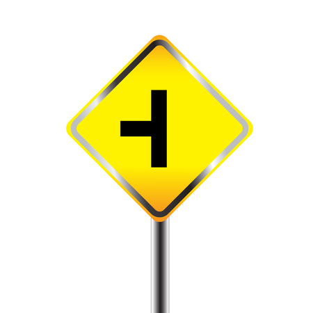 Caution Sign road on Isolated background Vector