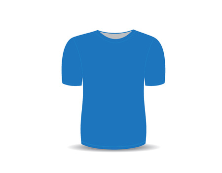 t shirt printing: Blank t-shirt blue template for men