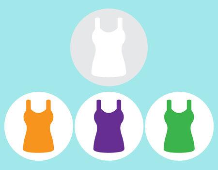 sleeveless: Singlet, sleeveless flat icon the circle. Vector illustration