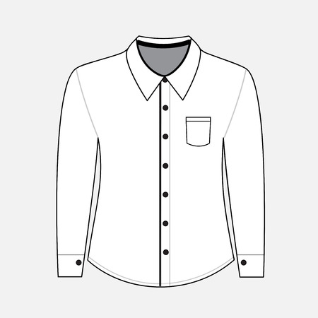 button down shirt: Shirt with long sleeves. vector illustration Illustration
