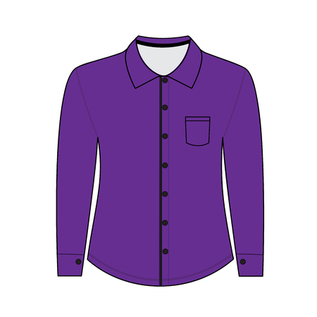 sleeves: Shirt with long sleeves. vector illustration Illustration