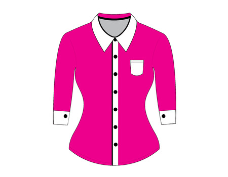 blank shirt: Blank shirt with long sleeves template for woman Illustration