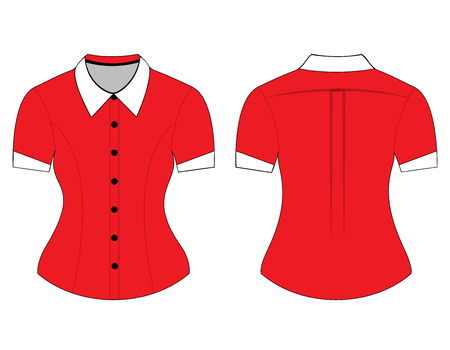 blank shirt: Blank shirt with short sleeves template for man and woman (front and back views)