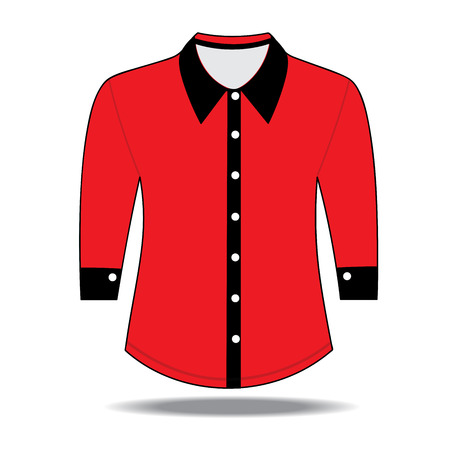 button down shirt: Blank shirt with long sleeves template for men Illustration