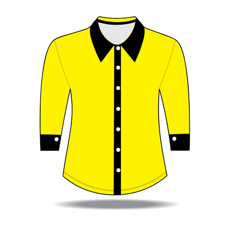 blank shirt: Blank shirt with long sleeves template for men Illustration