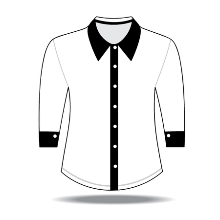 sleeves: Blank shirt with long sleeves template for men Illustration