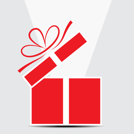 red gift box: The red gift box on a gray background
