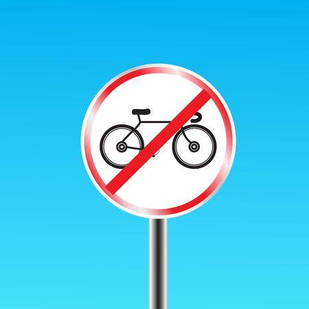 prohibido: Bicicletas signo prohibido Vectores