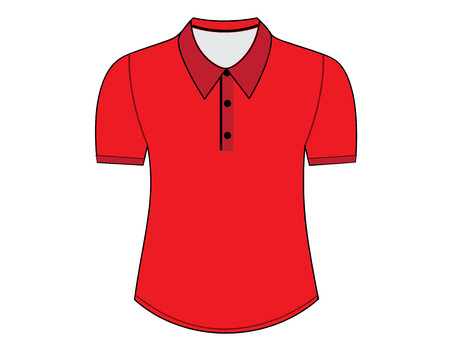 blank shirt: Blank shirt with short sleeves template for men (front views)
