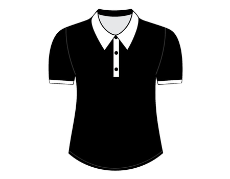 front views: Blank shirt with short sleeves template for men (front views)
