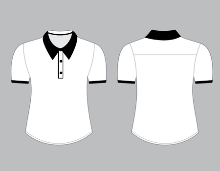 Blank shirt with short sleeves template for men (front and back views) Vector