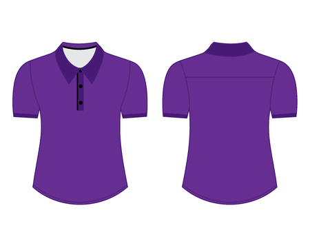 Blank shirt with short sleeves template for men (front and back views) Illustration